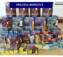 Obiecte pirotehnice interzise, confiscate de polițiștii bihoreni