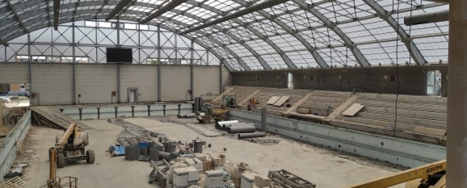 Lucrările de modernizare a Bazinului Olimpic din Oradea avansează