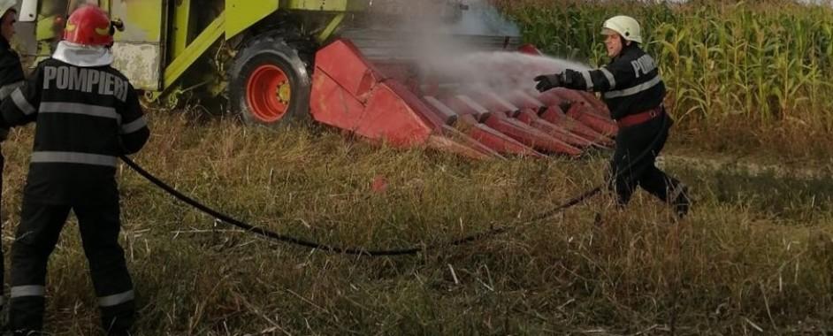 Incendiu la o cultură de porumb, în Girișu de Criș