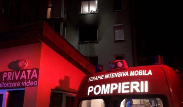 Incendiu la un apartament, în Oradea