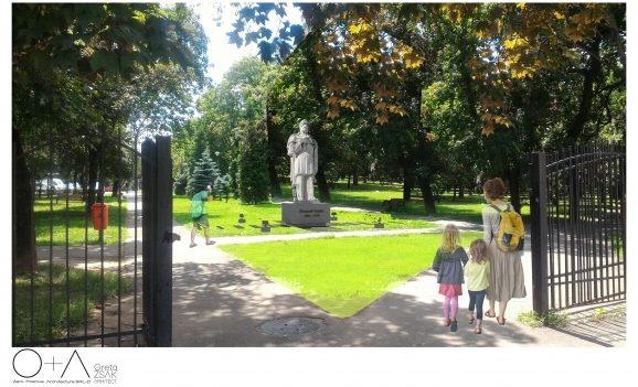 Pregătiri pentru reamplasarea statuii lui Emanuil Gojdu în Parcul 1 Decembrie din Oradea