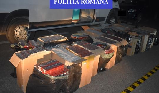Salontan prins în flagrant cu sute de mii de țigarete de contrabandă